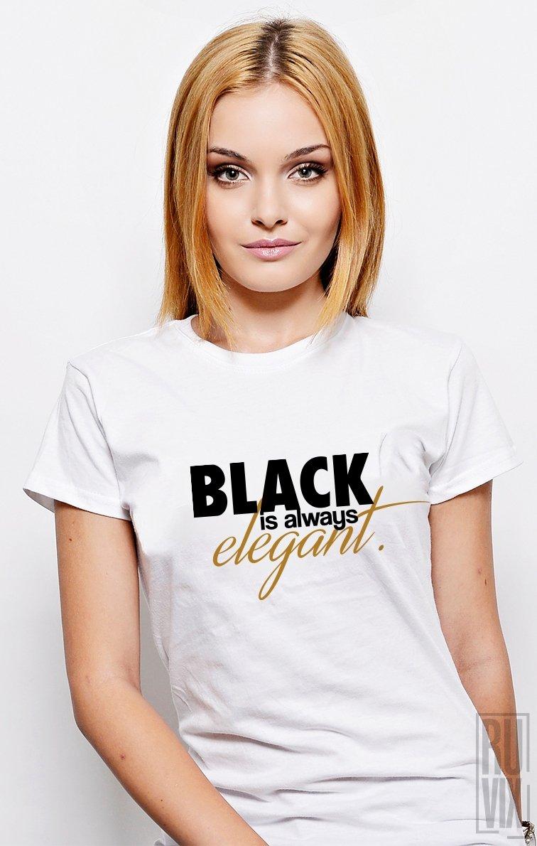 PROMOȚIE Tricou Black Elegant