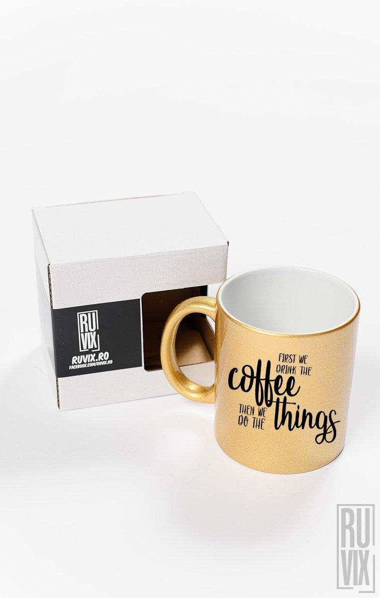 Cană First Coffee