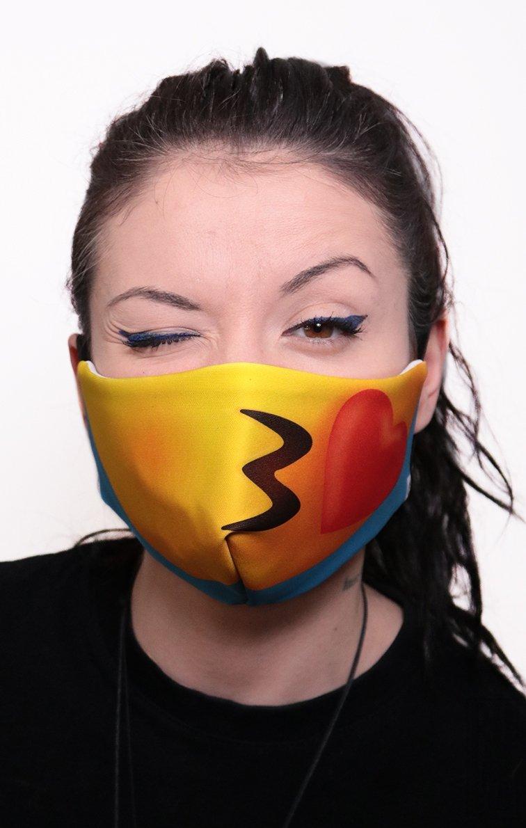 Mască Full Print Emoji