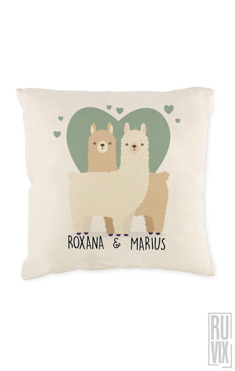 Pernă personalizată Llama LOVE