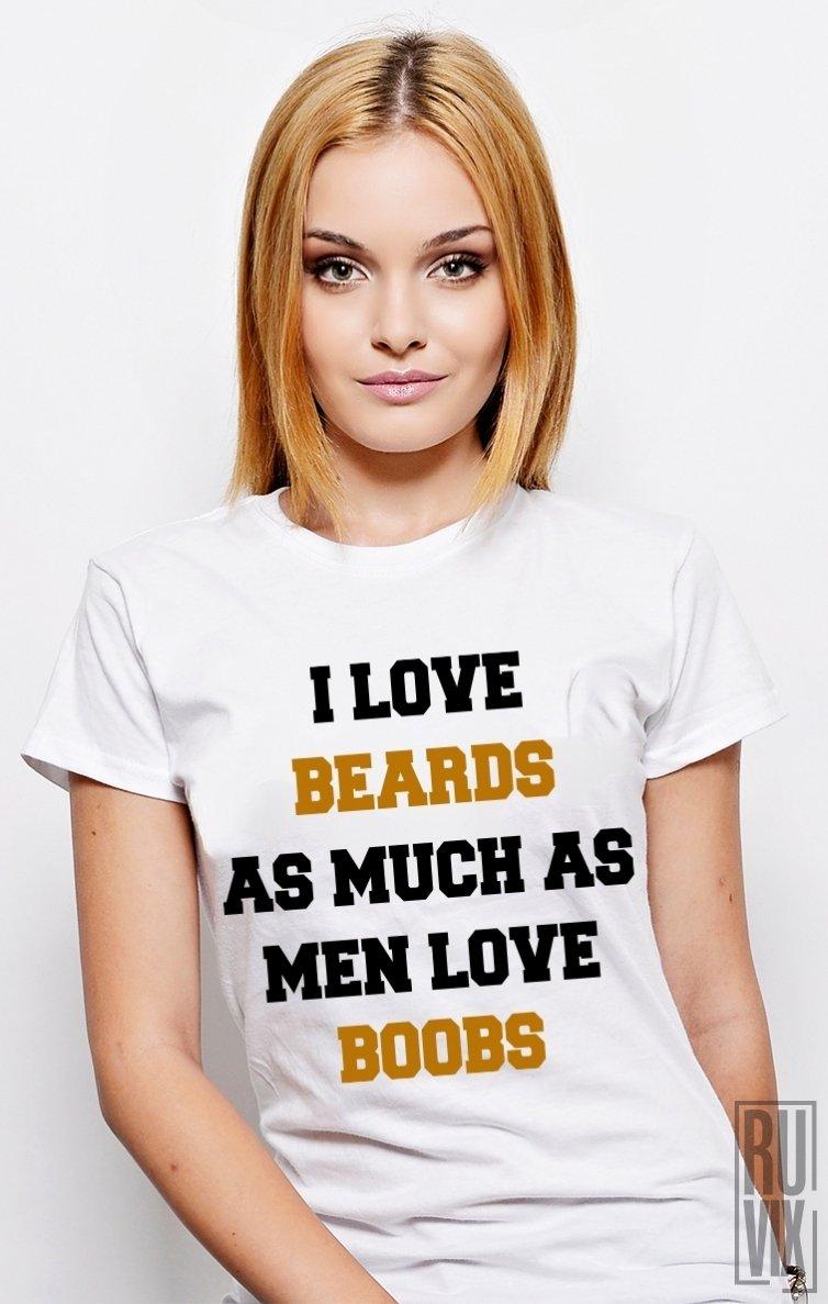 PROMOȚIE Tricou Boobs and Beards