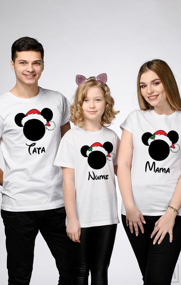 SET Tricouri Familie Crăciun Mickey