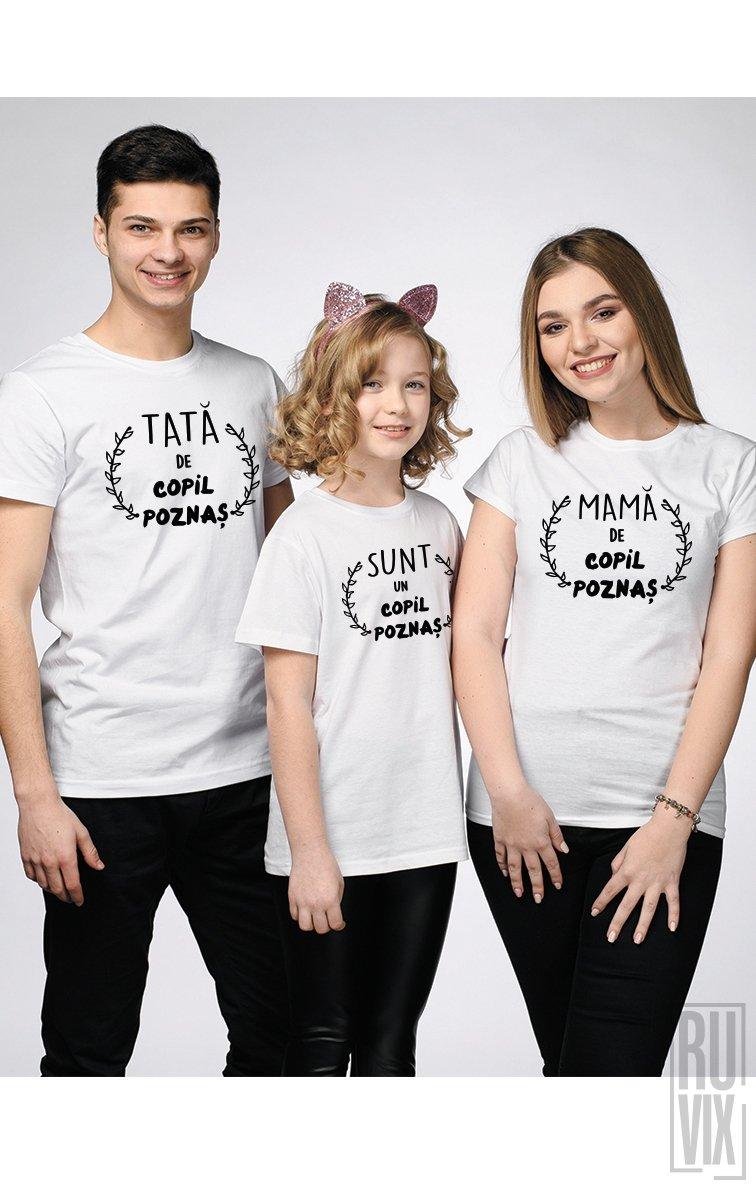 SET Tricouri Familie Poznașă