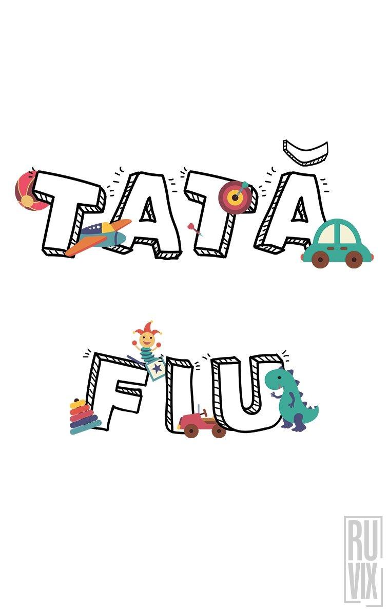 SET Tricouri Familie Tata - Fiu