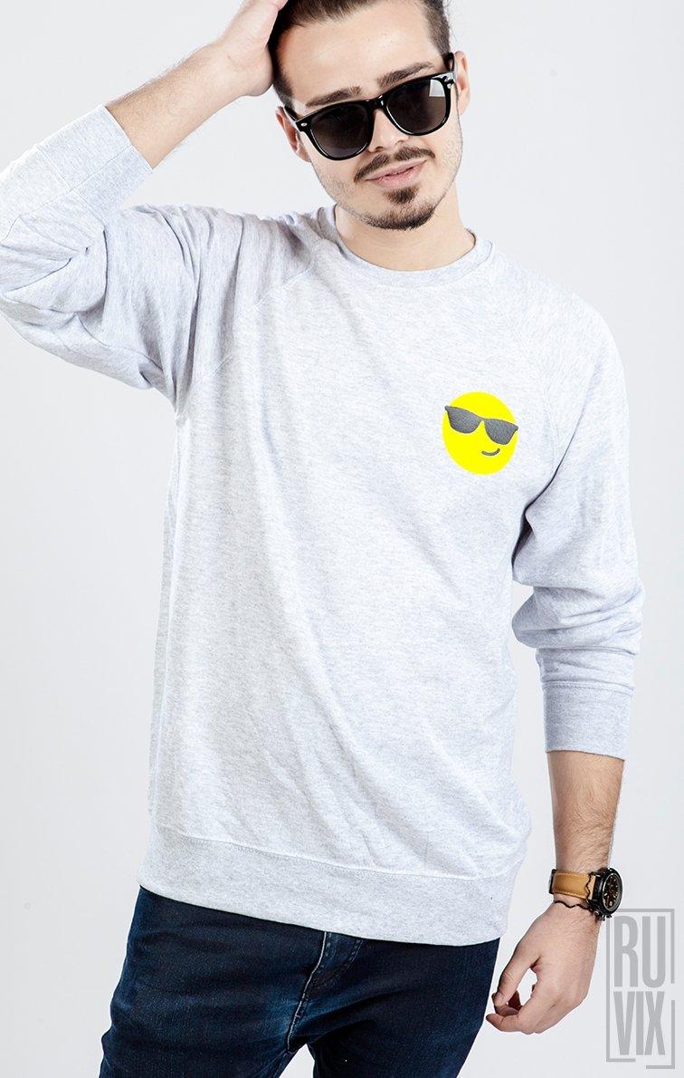 Sweatshirt Emoticon Ochelari