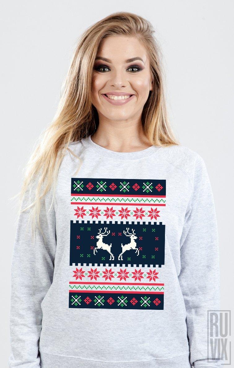Sweatshirt Imprimeu de Iarnă