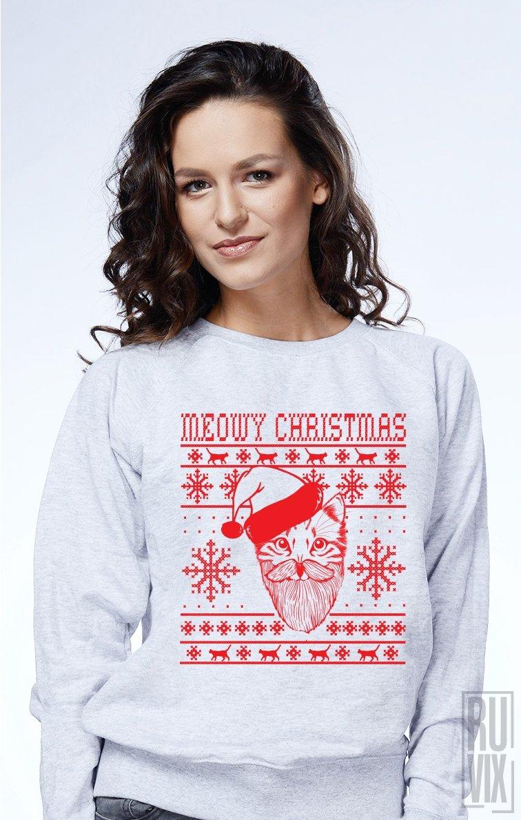 Sweatshirt Meowy Christmas