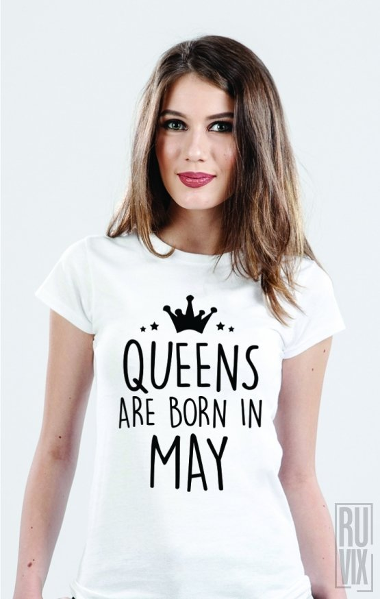 PROMOȚIE Tricou Queens Are Born in May