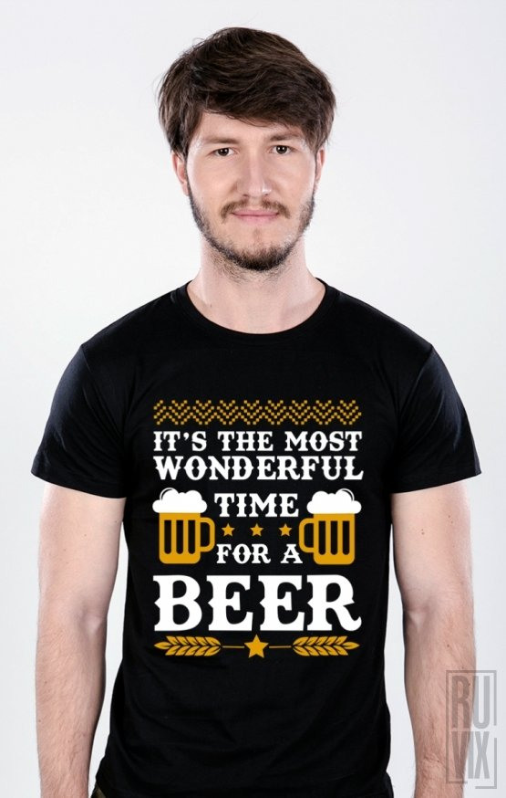 PROMOȚIE Tricou Wonderful Time for a Beer