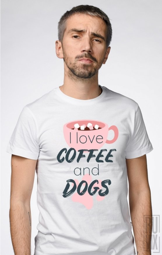 PROMOȚIE Tricou Coffee and Dogs