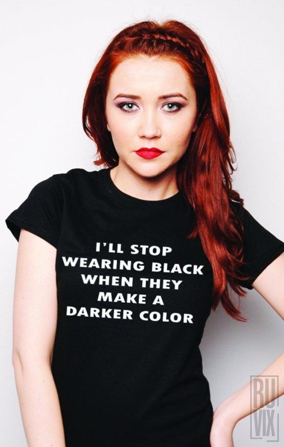 PROMOȚIE Tricou Stop Wearing Black