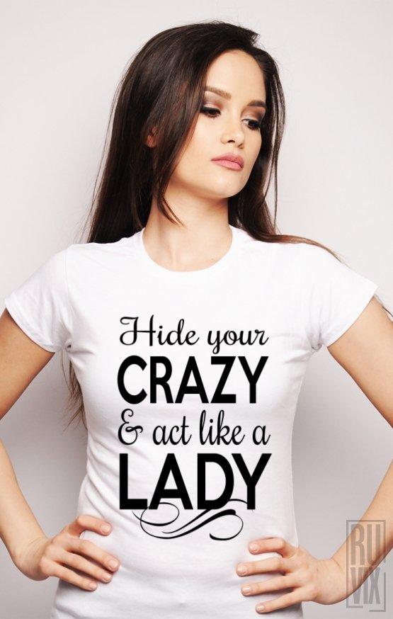 PROMOȚIE Tricou Crazy Lady