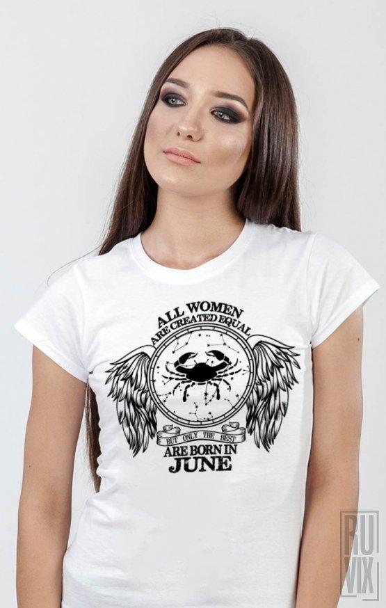 PROMOȚIE Tricou Rac - Zodiac Iunie Damă