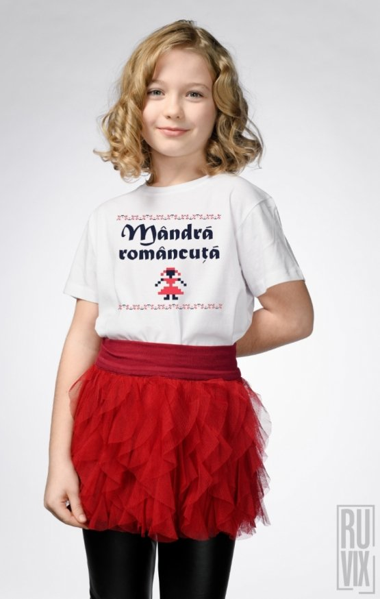 PROMOȚIE Tricou de Copii MÂNDRĂ ROMÂNCUȚĂ