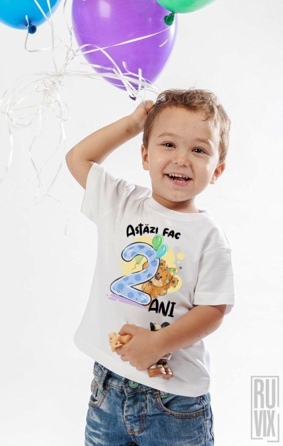 PROMOȚIE Tricou de Copii ASTĂZI FAC 2 ANI