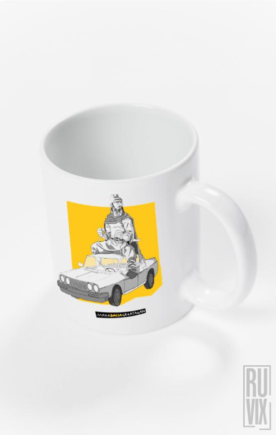 Cană Călare pe Dacia