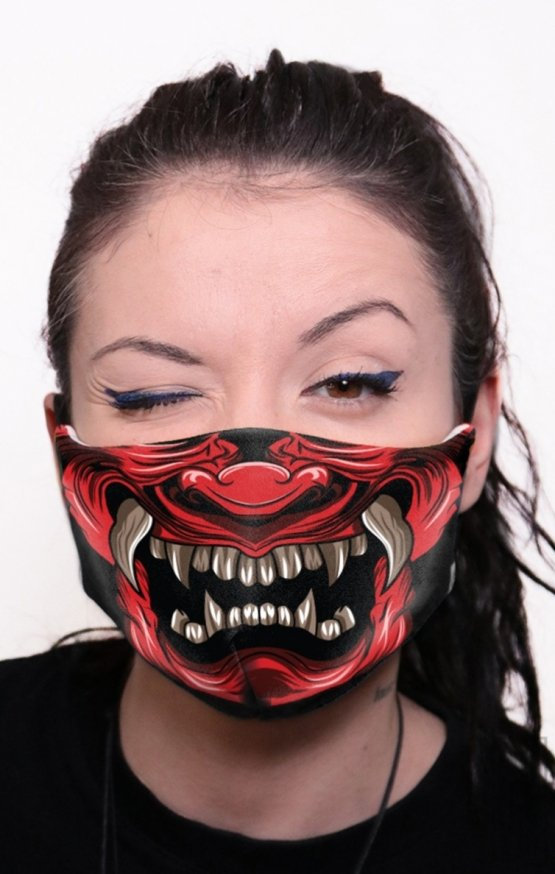 Mască Full Print Samurai