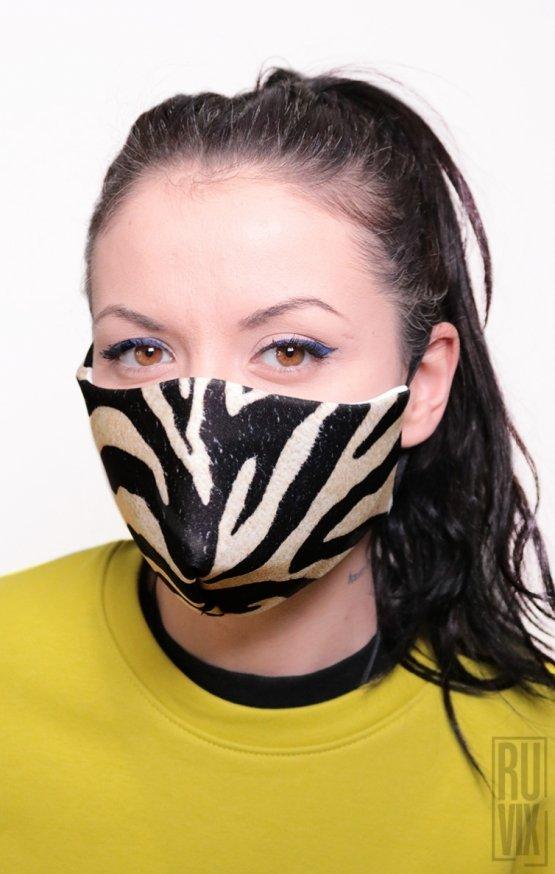 Mască Full Print Zebra