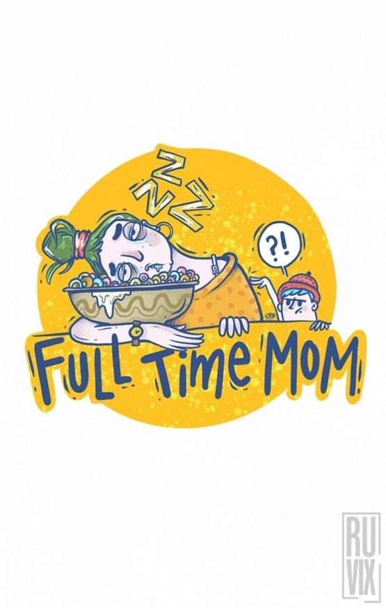 Mască Full time mom