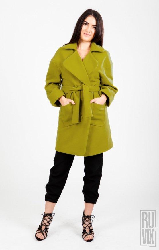 Oversized Coat Olive Green