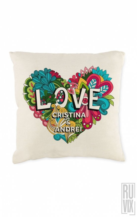 Pernă personalizată LOVE