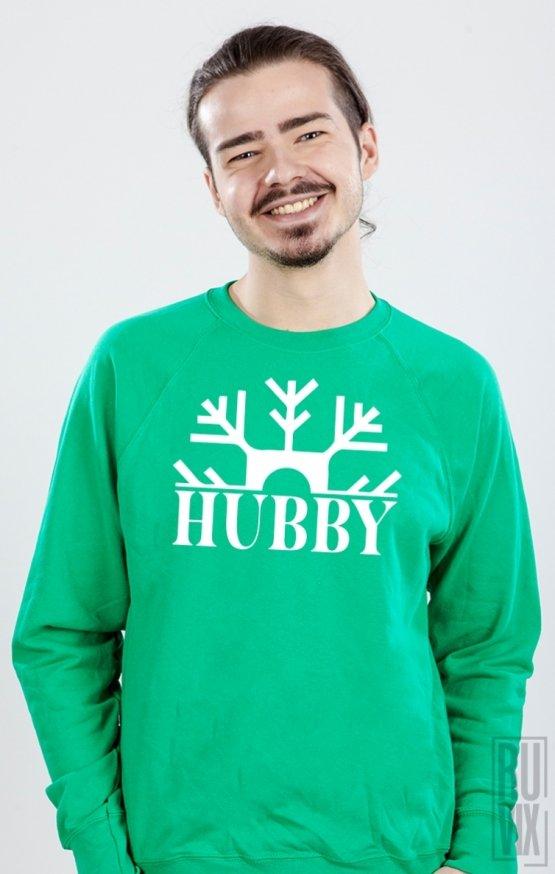 PROMOȚIE Sweatshirt Hubby Fulg de Nea