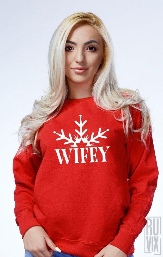 PROMOȚIE Sweatshirt Wifey Fulg de Nea