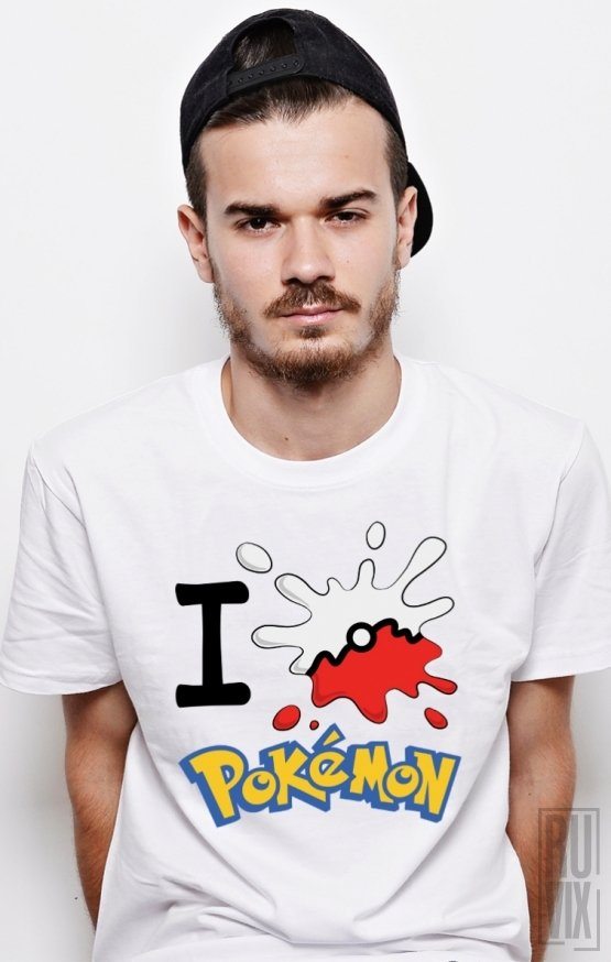 PROMOȚIE Tricou I Love Pokemon