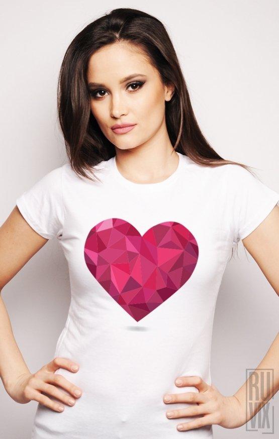 PROMOȚIE Tricou Inimă Triunghiulară