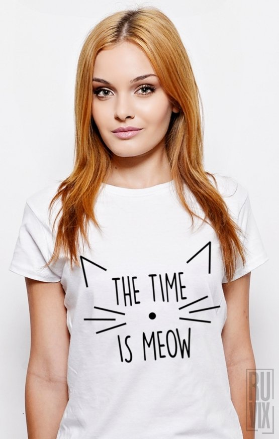 PROMOȚIE Tricou Time is MEOW