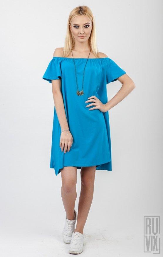Rochie JASMIN Aqua Blue