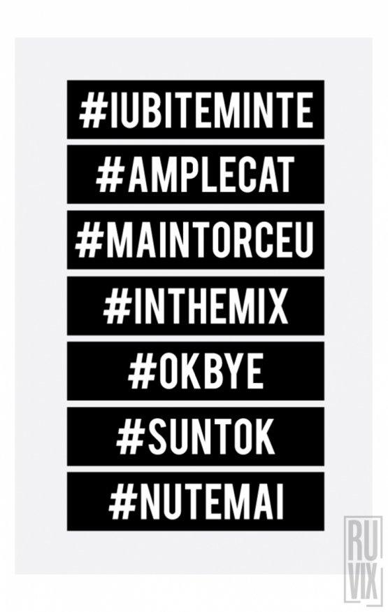 Set Stickere #IUBITEMINTE