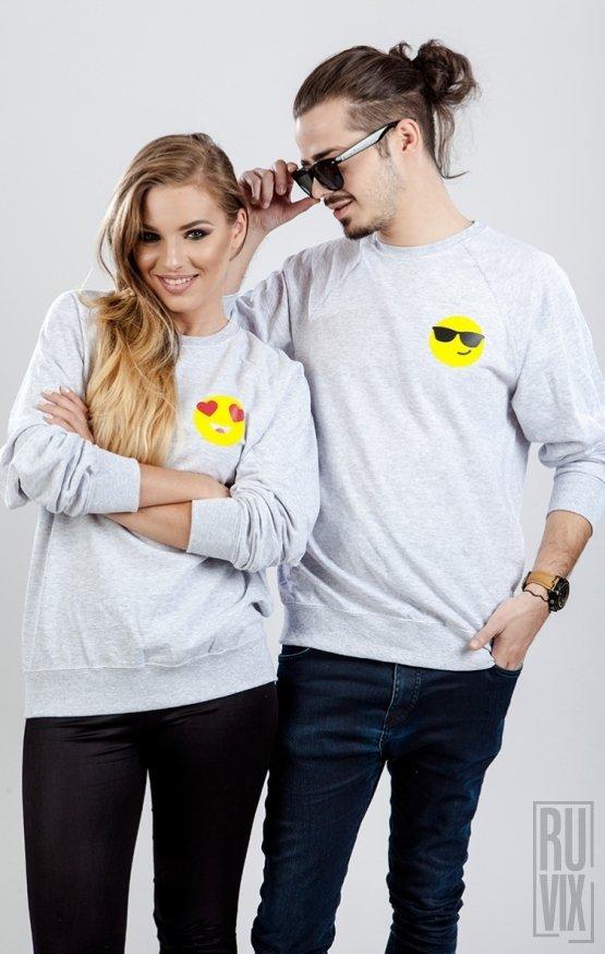 Set Sweatshirt Emoticon Inimă + Ochelari