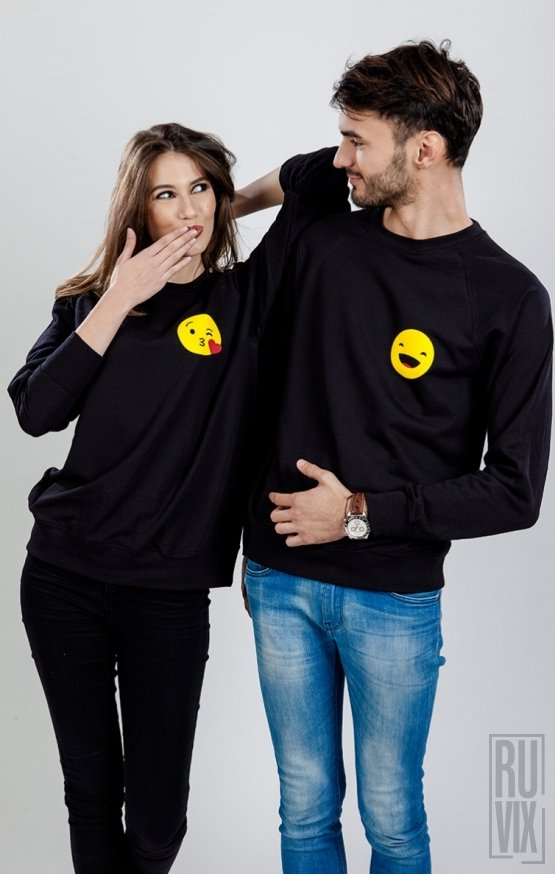 Set Sweatshirt Emoticon Pupic + Smiley