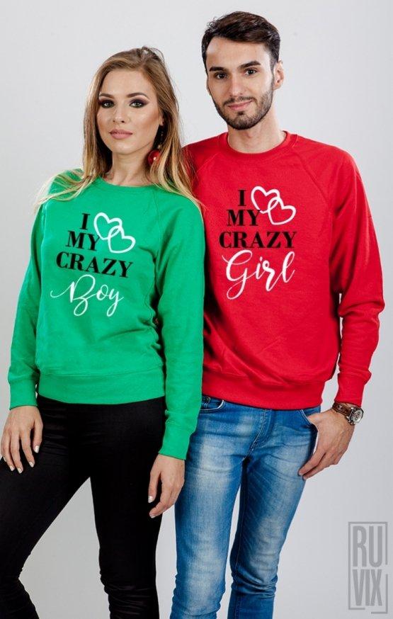 Set Sweatshirt I Love My Crazy