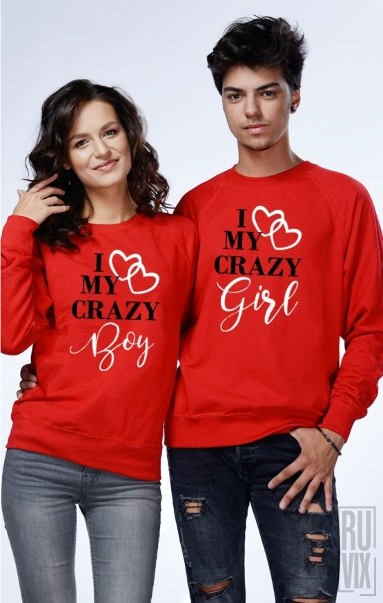 Set Sweatshirt I Love My Crazy