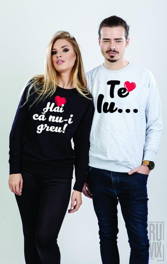 Set Sweatshirt Te Iubesc