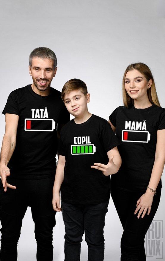 SET Tricouri BATERIE FAMILIE