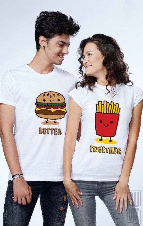 Set tricouri Burger & Fries