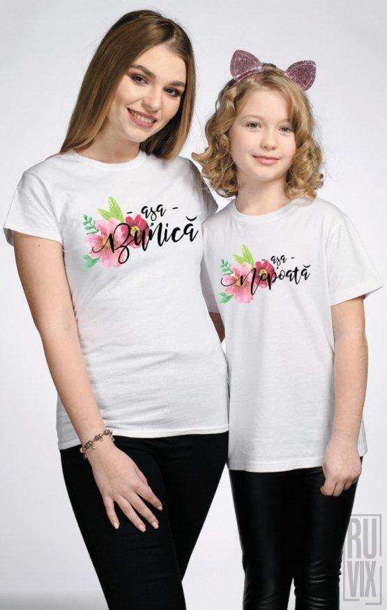 SET Tricouri Familie Așa Bunică - Așa Nepoată