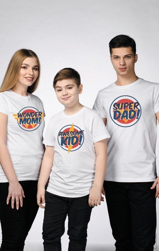 SET Tricouri Familie SUPER EROI