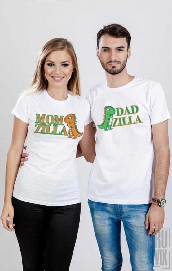 Set Tricouri Momzilla si Dadzilla