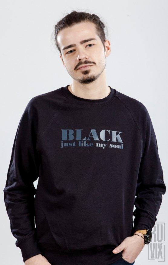 Sweatshirt Black Like My Soul