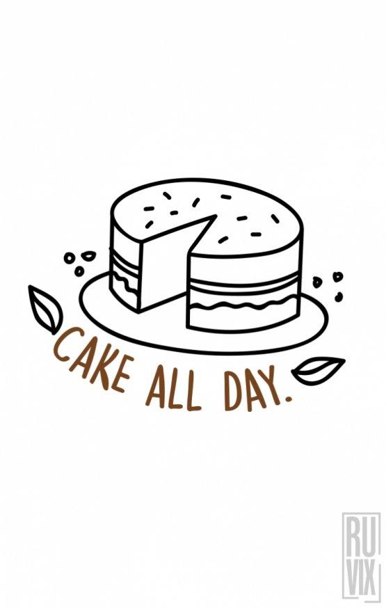 Sweatshirt Cake All Day