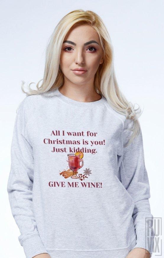 Sweatshirt Christmas Wine