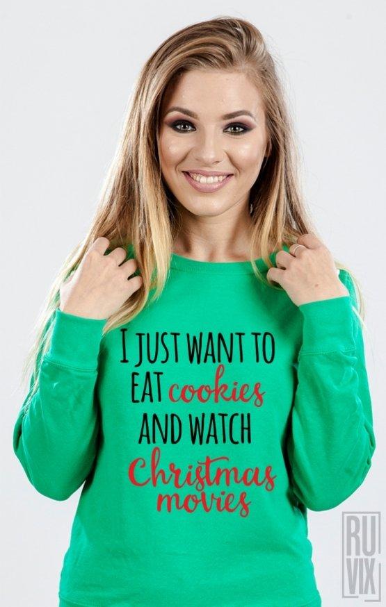 Sweatshirt Cookies and Movies