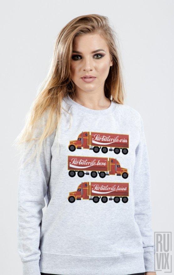 Sweatshirt Sărbătorile Vin Bere Țuică