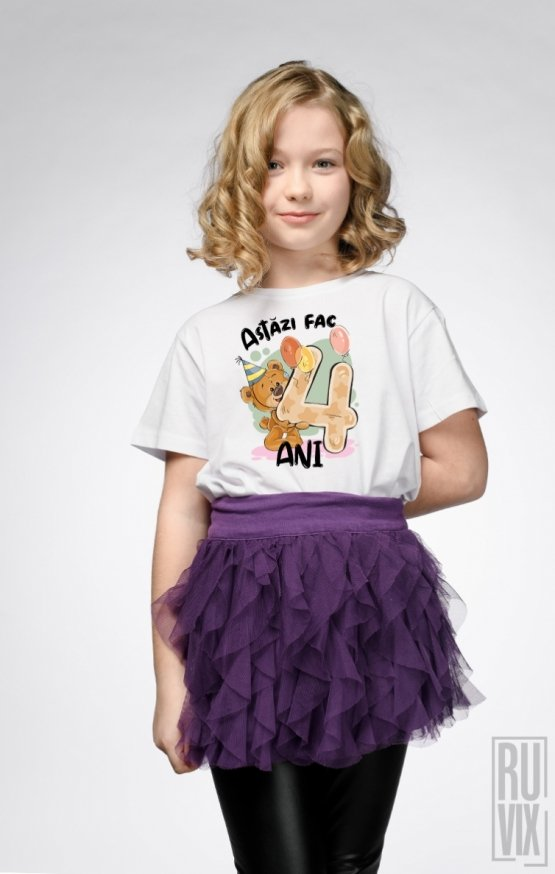 Tricou de Copii ASTĂZI FAC 4 ANI