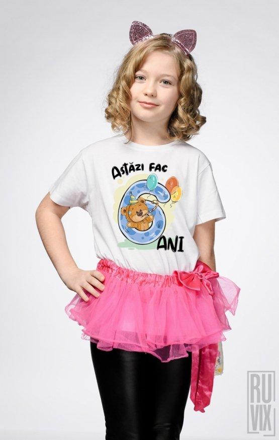 Tricou de Copii ASTĂZI FAC 6 ANI