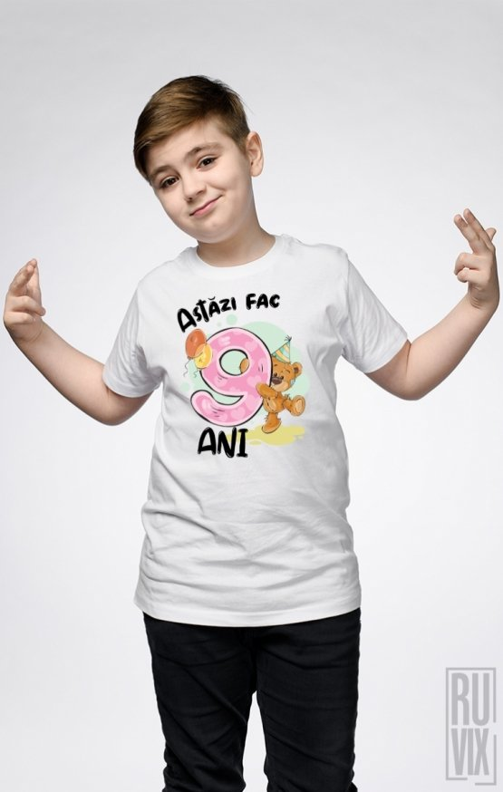 Tricou de Copii ASTĂZI FAC 9 ANI